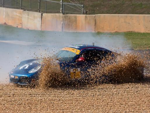 #7 Rebel Rock Porsche into the 10a Gravel Trap