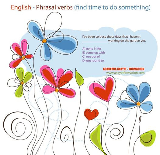 English - Phrasal verbs (find time to do something) INGLES