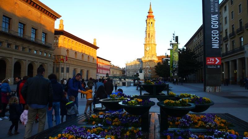 La plaza del pilar