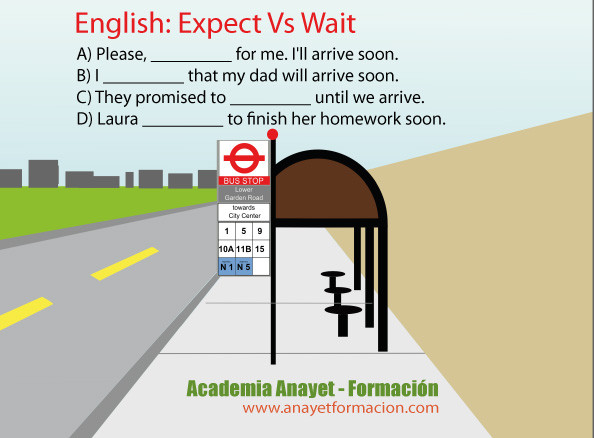 English Expect Vs Wait