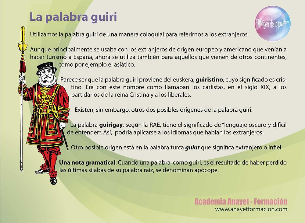El origen de la palabra guiri