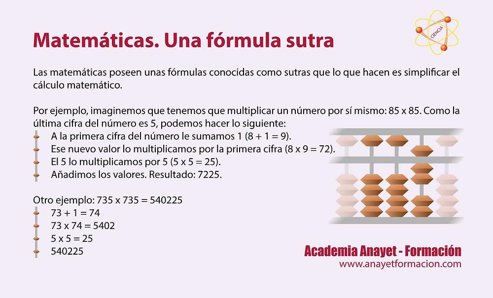 Matemáticas -Una fórmula sutra