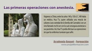 Las primeras operaciones con anestesia.