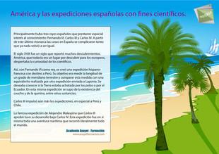 América y las expediciones españolas con fines científicos.