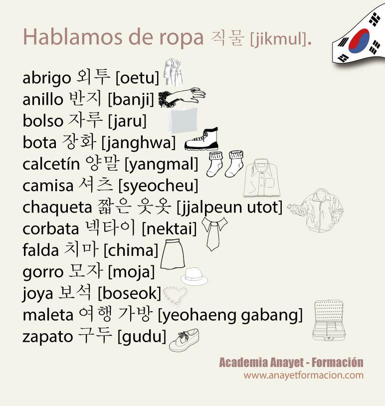 Hablamos de ropa en coreano 직물 jikmul
