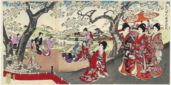 Resultado de imagen de FLOR DE CEREZO ARTE  japonesa tradicional