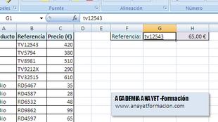 Excel. La función BUSCARV