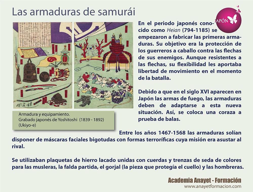 Las armaduras de samurái. Japón