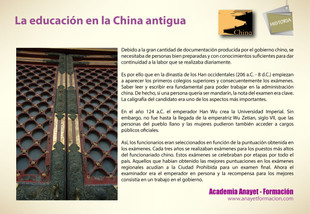 La educación en la China antigua