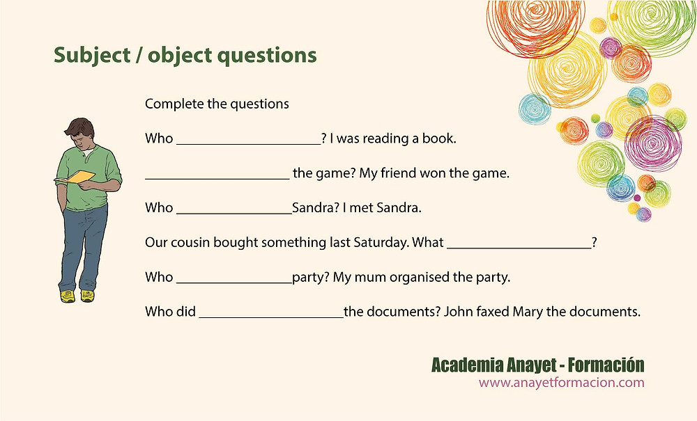 Object and Subject questions