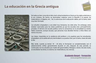 La educación en la Grecia antigua