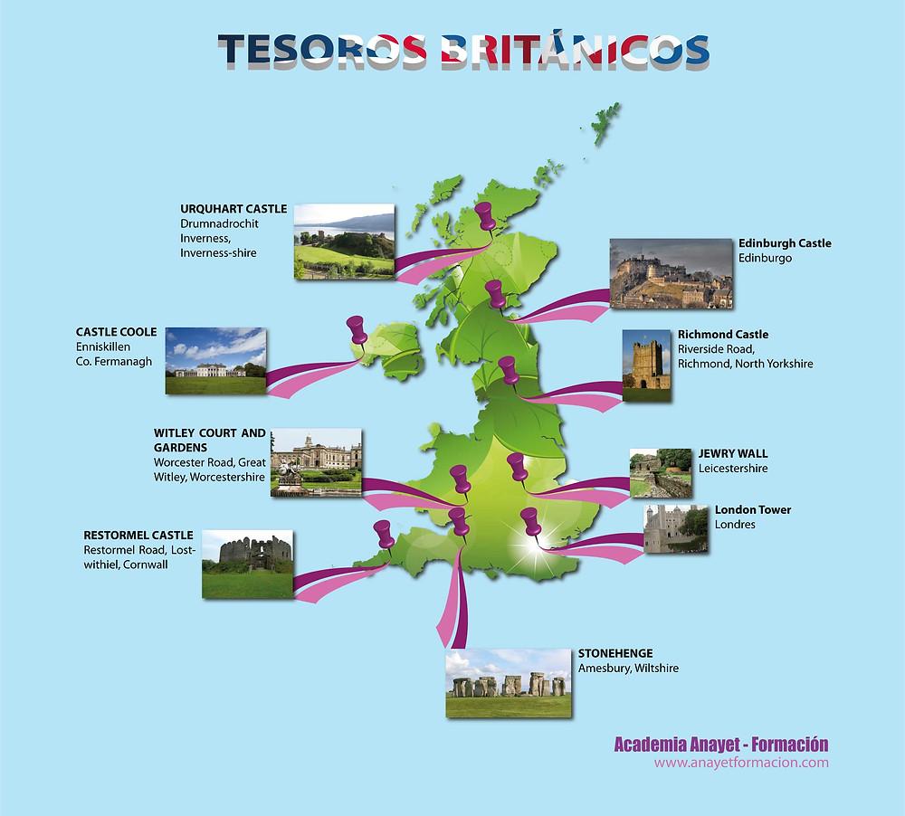 Viajando por el Reino Unido. Tesoros Británicos