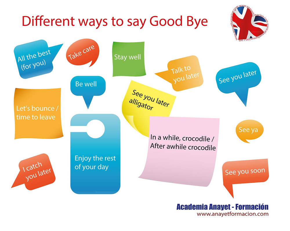 Different ways to say Good Bye
