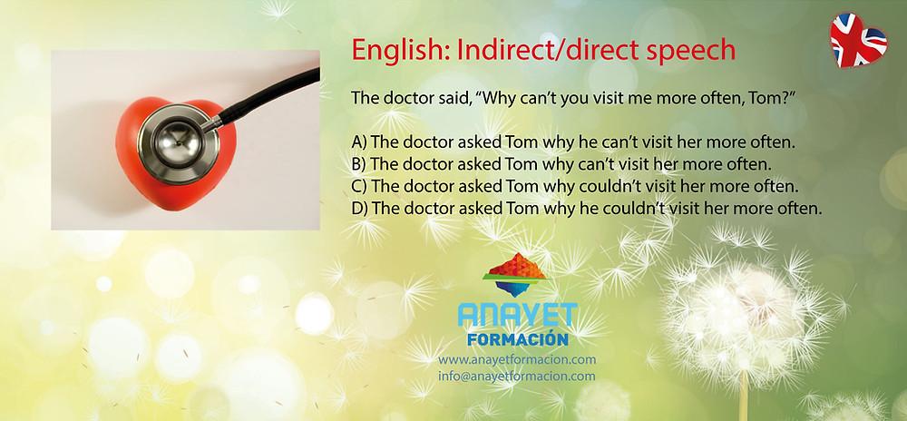 English: Indirect/direct speech