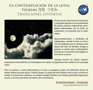 La contemplación de la luna; tsukimi 月見, つきみ - Tradiciones japonesas