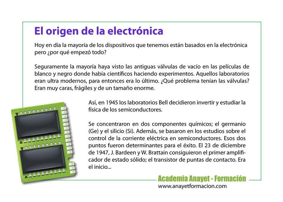 La electrónica es parte fundamental de nuestras vidas. ¿Quién no ha visto un transistor o un chip electrónico? En realidad no habríamos alcanzado el nivel tecnológico actual si no fuese por la química y la electrónica. Os descubrimos sus raíces.