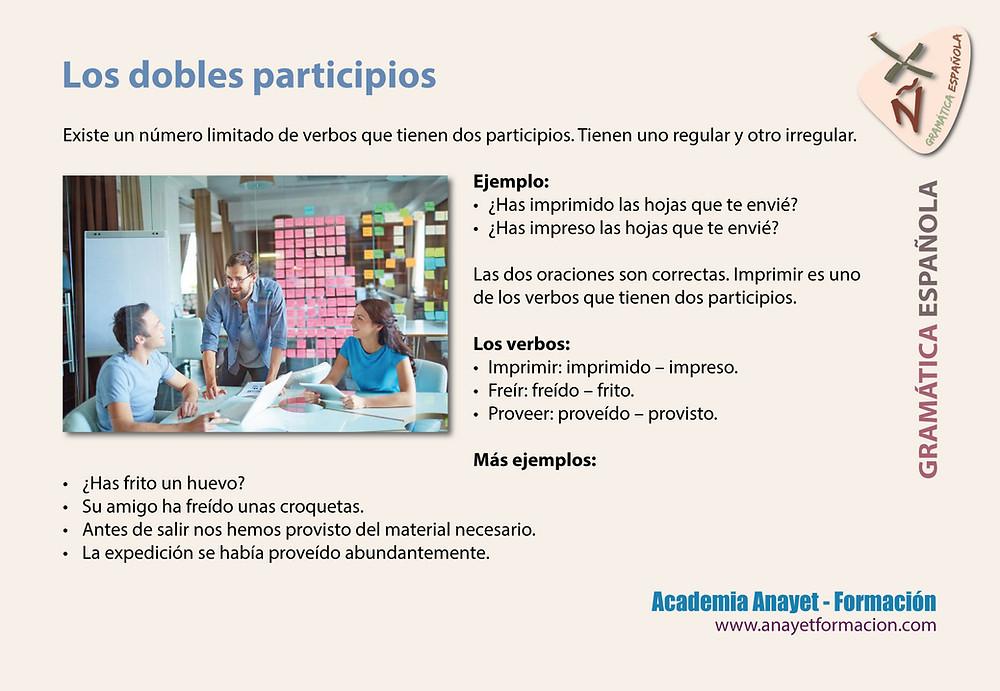 Los dobles participios -Gramática española