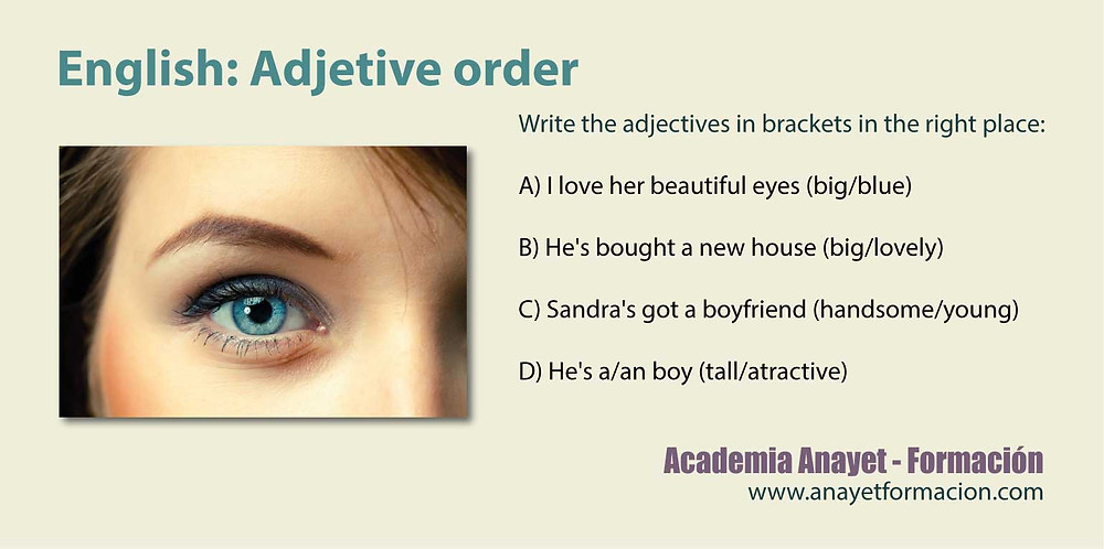 Adjectives Word Order - English Grammar.