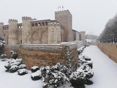 La torre del Trovador. Palacio de la Aljafería, Zaragoza