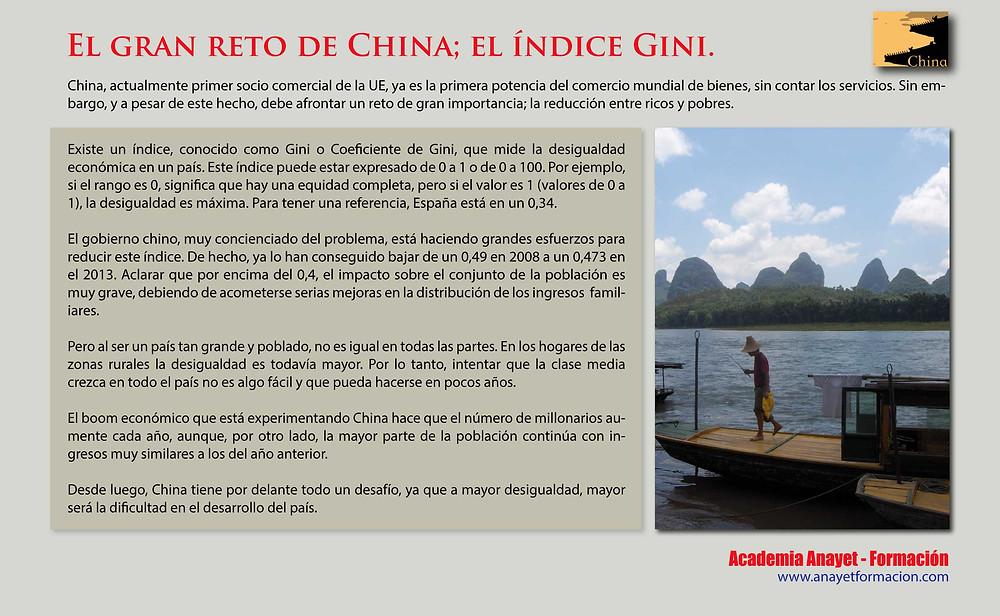 El gran reto de China; el índice Gini.