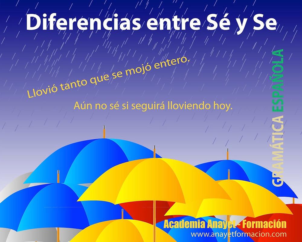 Sé con acento y Se sin acento. Gramática española