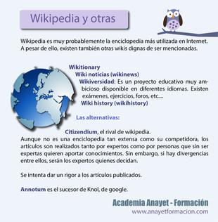 Wikipedia y otras