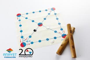El juego tradicional coreano, 윷놀이 (Juego de Iut)