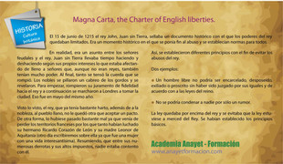 Magna Carta, the Charter of English liberties. La carta Magna inglesa.