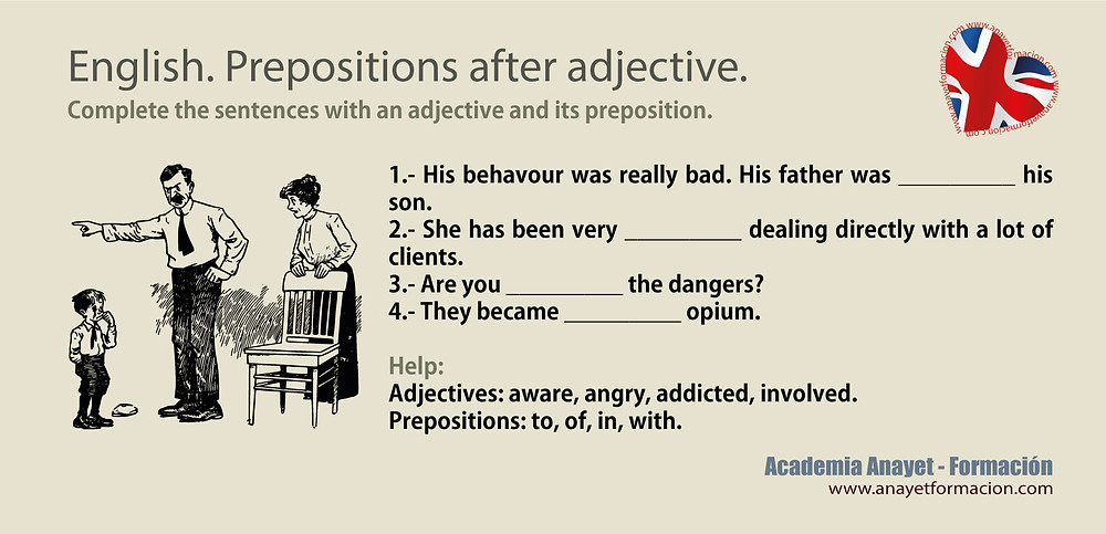 English. Prepositions after adjective.