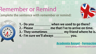 English - Remember and Remind