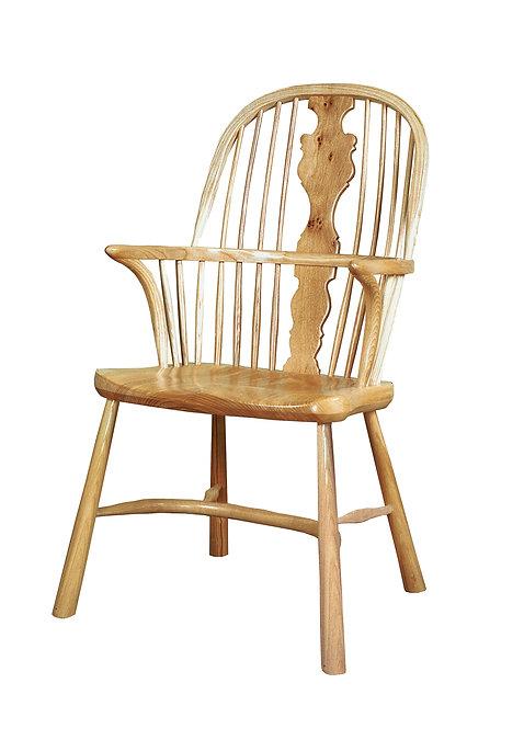 BC3RLpip Georgian armchair with revival legs and Pippy Oak splat