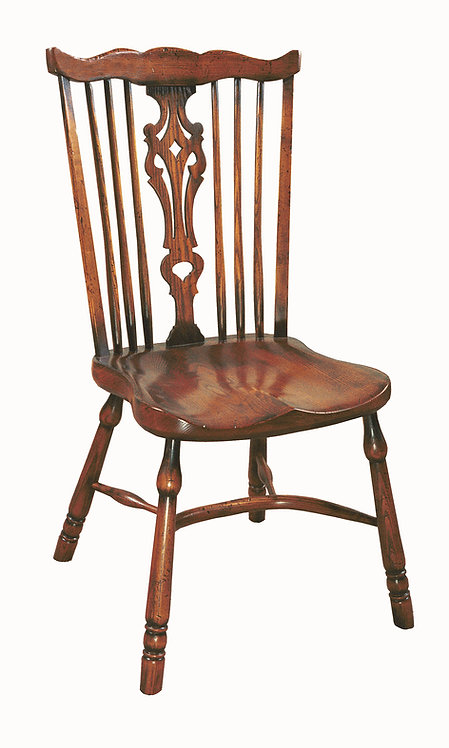 BC63CL Large fan back side chair.