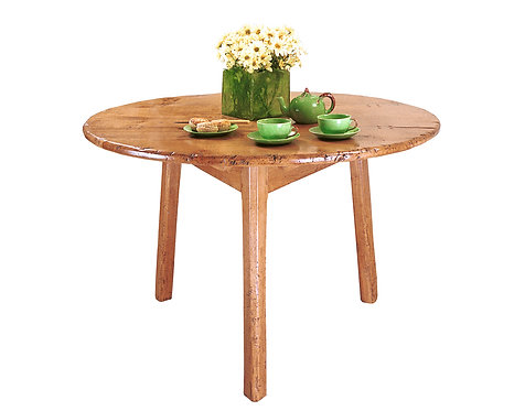 HL945 Heavy chamfered cricket table with drop leaf