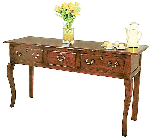 TL7166 Server table with sawn cabriole legs
