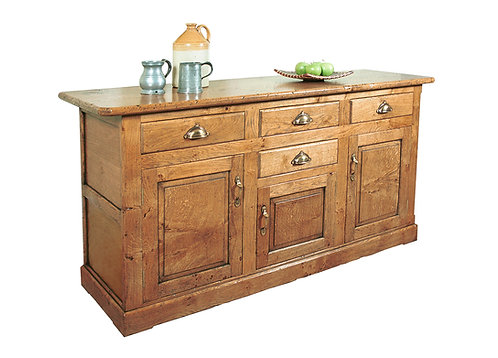 TL988 Chamfered sideboard 3 cupboards and 4 drawers