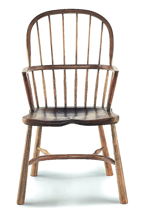 BC7RL Large stickback armchair with revival legs