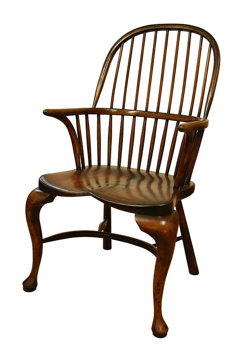 BC7cab Stick back Windsor armchair with cabriole legs