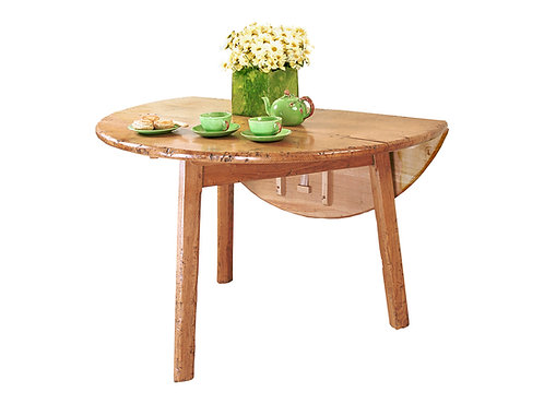 HL945CL Heavy chamfered cricket table with drop leaf