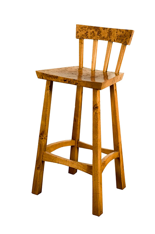 AD61BR Island bar stool with Pippy Oak seat & back rest