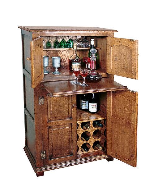 TL76B Drinks cabinet with bottle rack