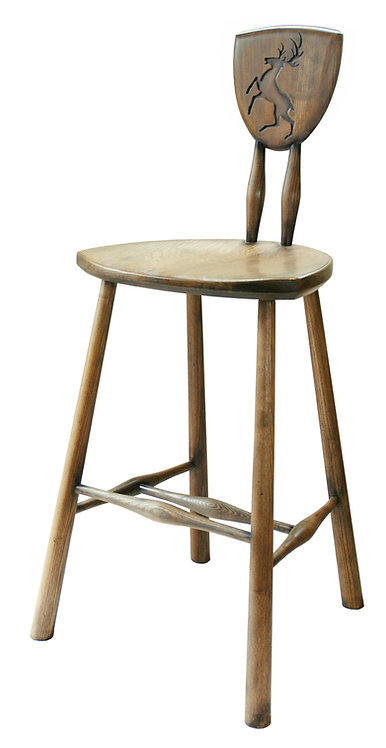 BC82st Hunter's Bar Stool with engraved Stag