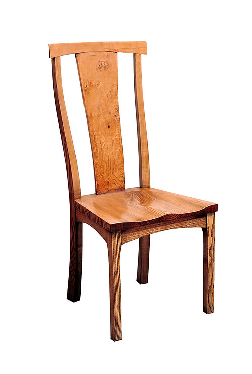 BC75CL Frame sidechair with solid seat and Pippy Oak splat
