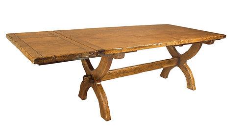 HL3E Sawbuck extendable table.