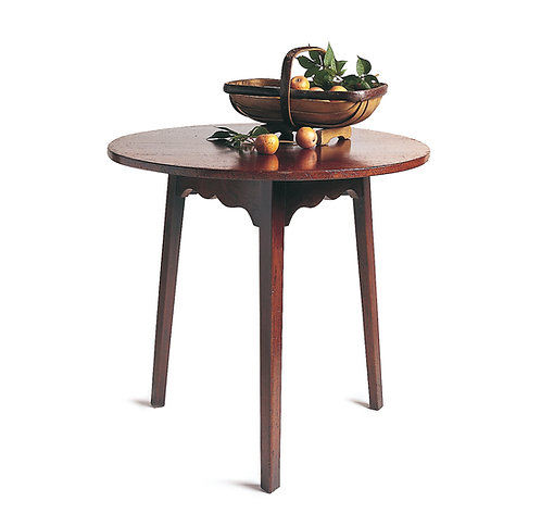 HL153 Cricket table with tapered legs.