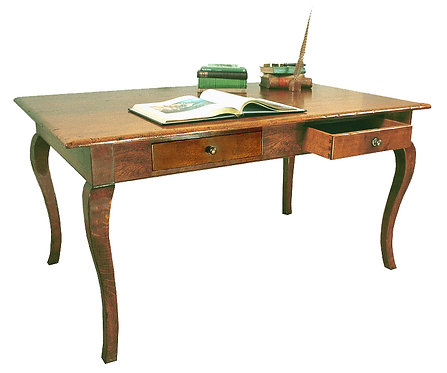 TL762 Large writing desk with cabriole legs