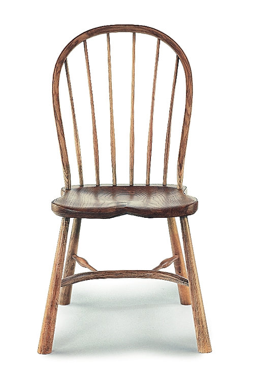 BC58RL Large stickback sidechair with revival legs
