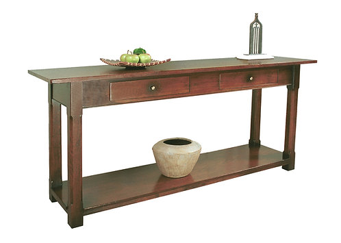 TL9159S Sofa table with chamfered leg and potboard