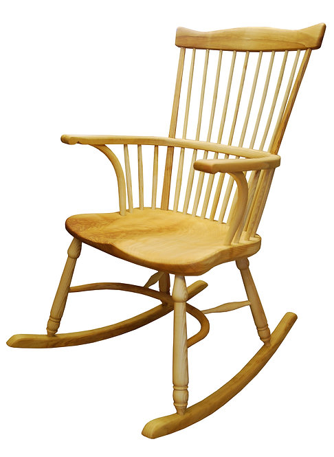 BC62ABR Stickback fanback broadarm rocking chair
