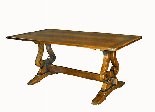 HL38 Refectory table lyre end.