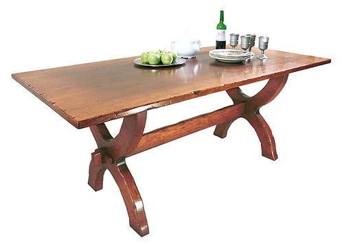 HL3 Refectory Table - Sawbuck.
